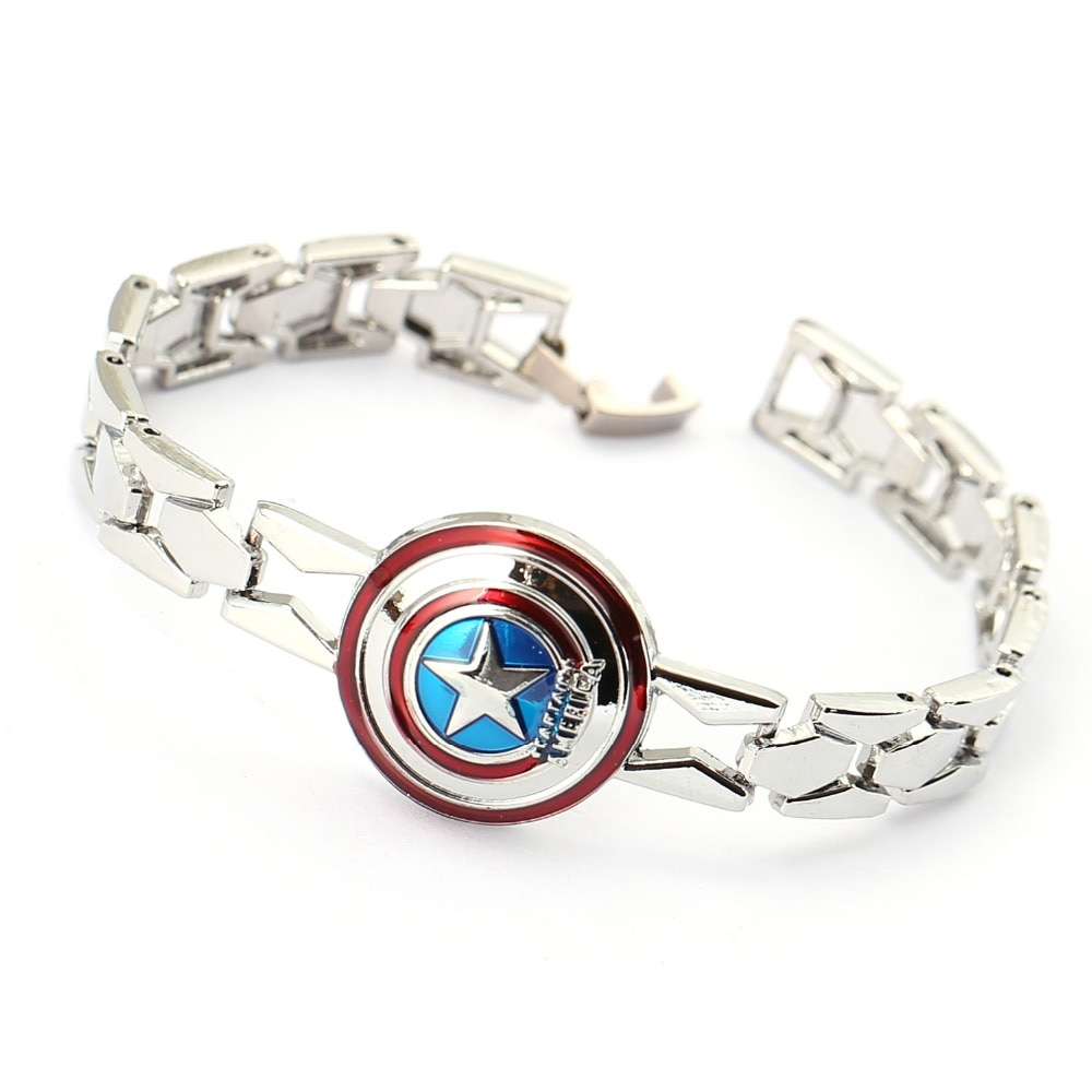 Jewelry Fashion Bangle The Avengers Capital American Charm Bracelet Stainless Steel Star Bracelet