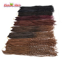 5 packs Crochet Braid hair extensions Faux Locs curly Hair 22 inch 24 strands/pack Eunice Synthetic Fiber Braiding Hair