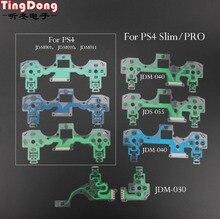 Ps4 slim pro 컨트롤러 용 전도성 필름 플렉스 케이블 ps2 ps3 ps4 조이스틱 수리 부품 JDS-001 JDM-030 040 55 용 고품질