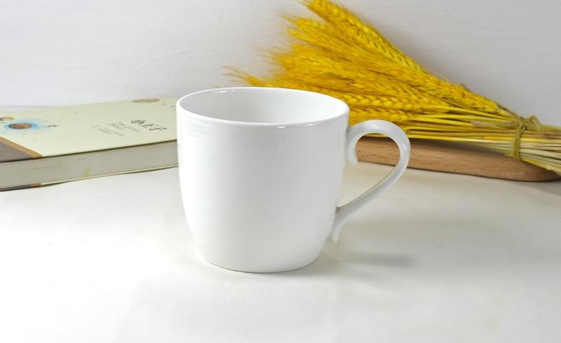 480ML, plain white bone china morning cup, porcelain breakfast cereal mug, ceramic mugs coffee cups, milk tea large mug, tumbler
