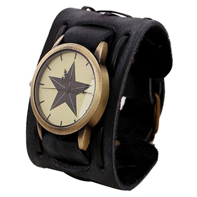 Relojes 2020 Punk Rock gran muñeca de cuero Relojes para hombres y mujeres brazalete de pulsera reloj de cuarzo mujer Relogio femenino # BL3