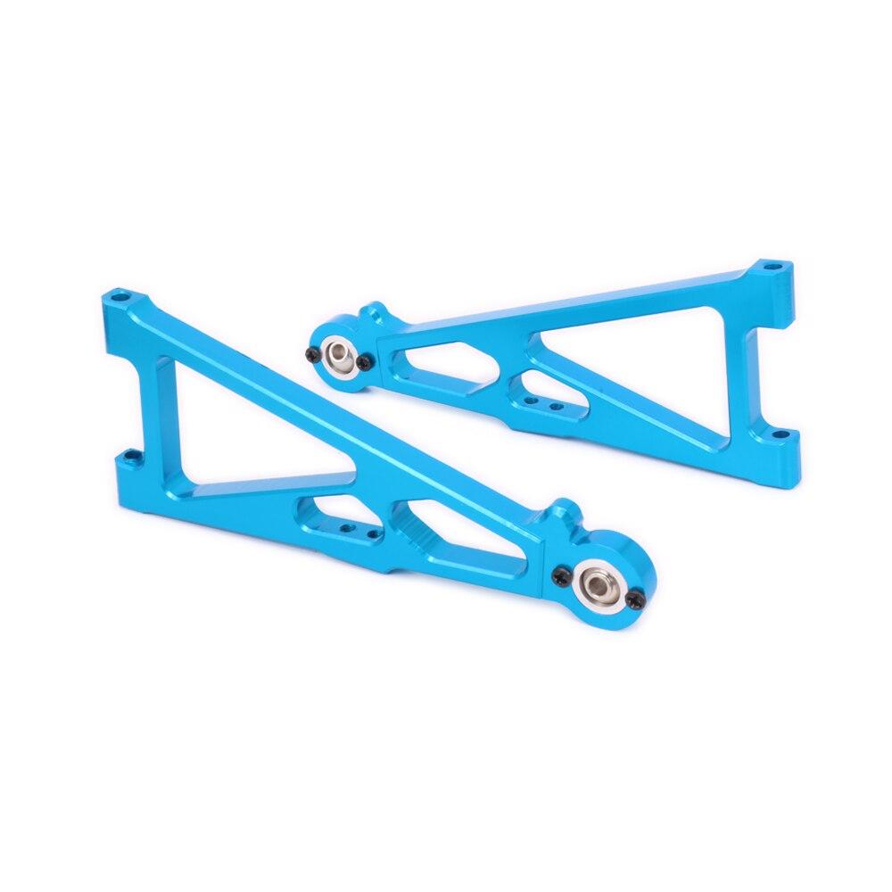 2 uds de aluminio RCAWD suspensión inferior delantera brazo para Rc modelo de coche 1/10 Himoto Pie Grande camión monstruo E10Mtl E10Mt E10Bp 33602 parte