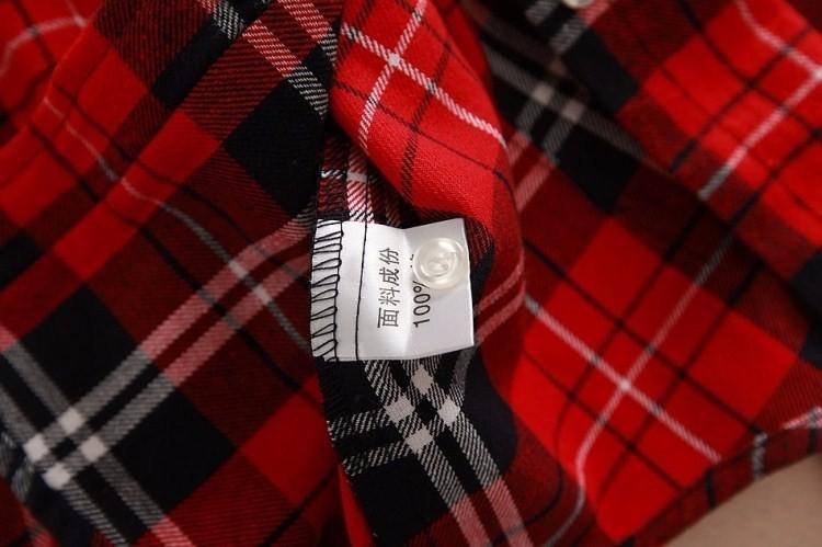 2017 hot sprzedaż jesień zima panie kobieta casual cotton lapel bluzka bluzki z długim rękawem kratę koszula kobiet szczupła odzieży wierzchniej clothing 14