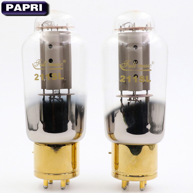 New TJ Fullmusic 211SL Vacuum Tube Vintage Replace 211 Tube For DIY HiFi Amplifier Audio Speaker 2PCS/Lot Test Matched Pair