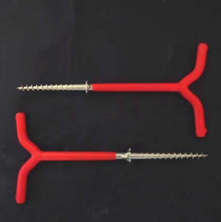 SAMS Fishing 2pcs/lot 19CM V dual-use multi word ice nails Ice tent bracket holder Ice fishing spiral drill rod