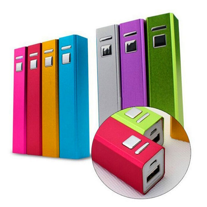 1Pc aluminiowa ładowarka USB 18650 2600mAh Power Bank DIY zestaw do iphonea 5S 6S