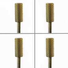 4pcs  Carbide Nail Drill Bit -Small Pink & White Bit  - M