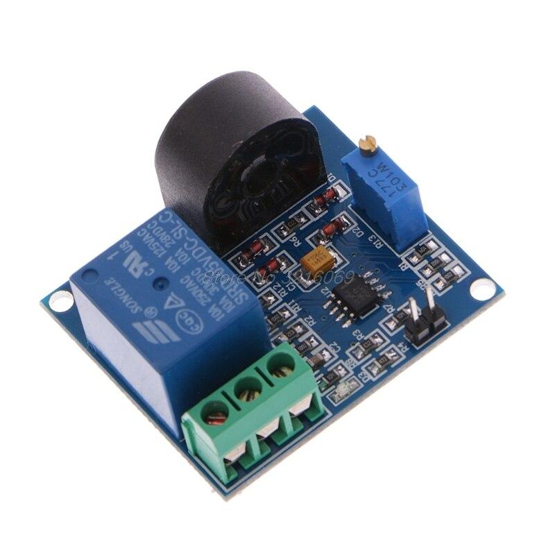 Módulo de relé de protección de sobrecorriente 5A, placa de detección de corriente AC, relé de 12V/Oct15 5V, venta al por mayor y DropShip