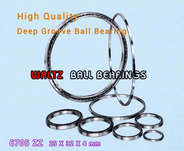 25mm Thin-Section Ball Bearings 6705 6705ZZ 25x32x4 Ball Bearing Double Shielded With Metal Shields Z/ZZ/2Z