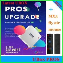 GEN7 UPROS 2+32G+MX3 air mouse Free iptv TV BOX Android IPTV UBTV Free 1000+Channel IPTV Smart TV UBOX4 PRO GEN6 PRO OS Version