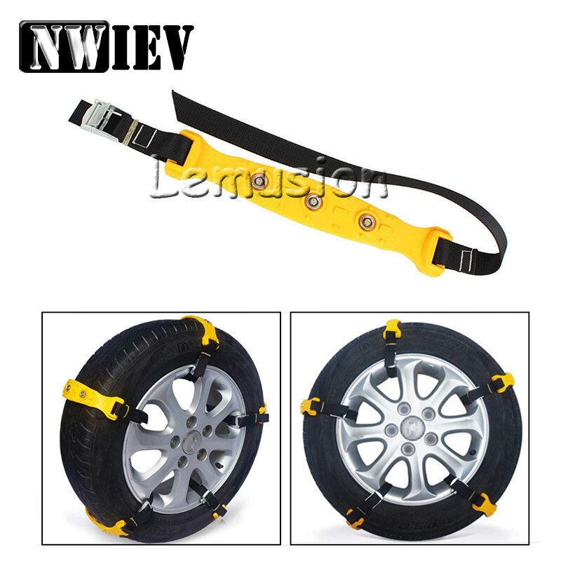 NWIEV neumático de coche Anti-skid neumáticos de nieve cadenas para Honda Civic Fit acuerdo Jaguar Opel Astra H G J Insignia Vectra C Corsa D Zafira B