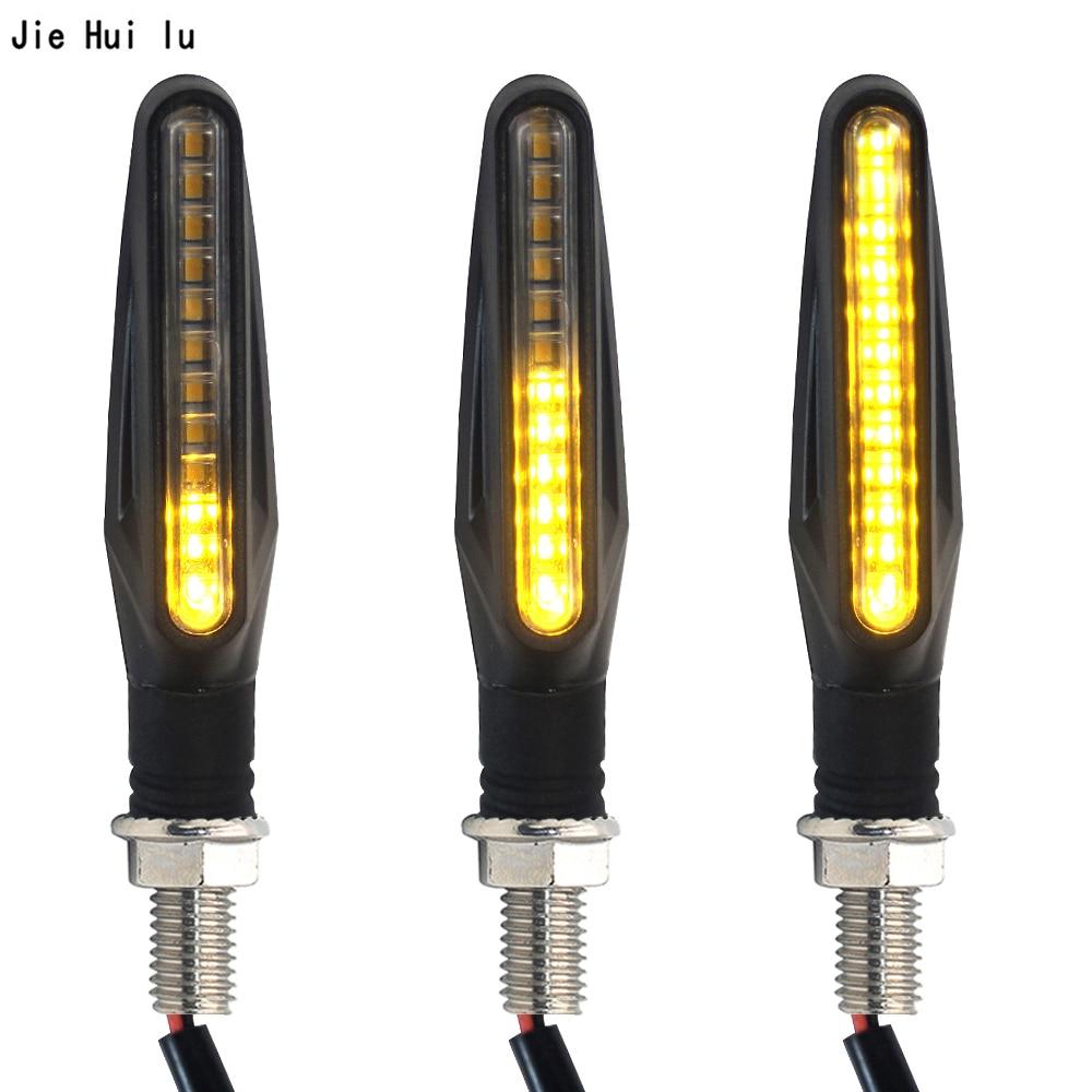 1 Uds luz intermitente para motocicleta LED luz intermitente para motocicletas luces intermitentes luces traseras luces de freno