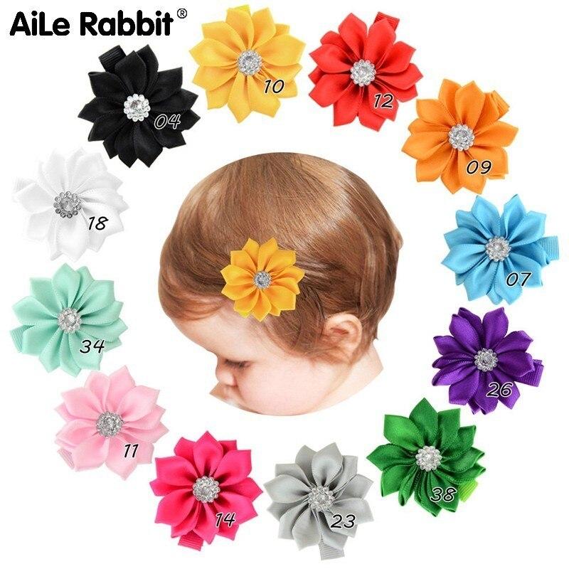 Crianças populares Tecido de Malha de Fibra De Poliéster Afiada Trazer Florzinha Doze Canto Criança Flor Hairpin do Pacote Completo 830