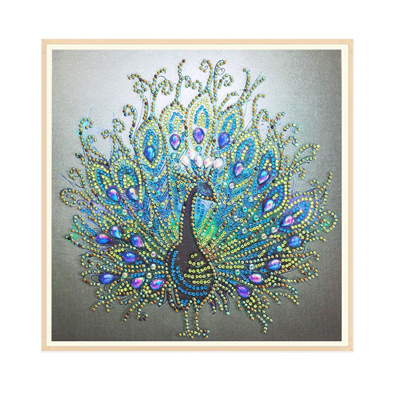 DIY diamante pintura bordado Pavo Real Cruz artesanía Stitch hogar pared decoración alta calidad