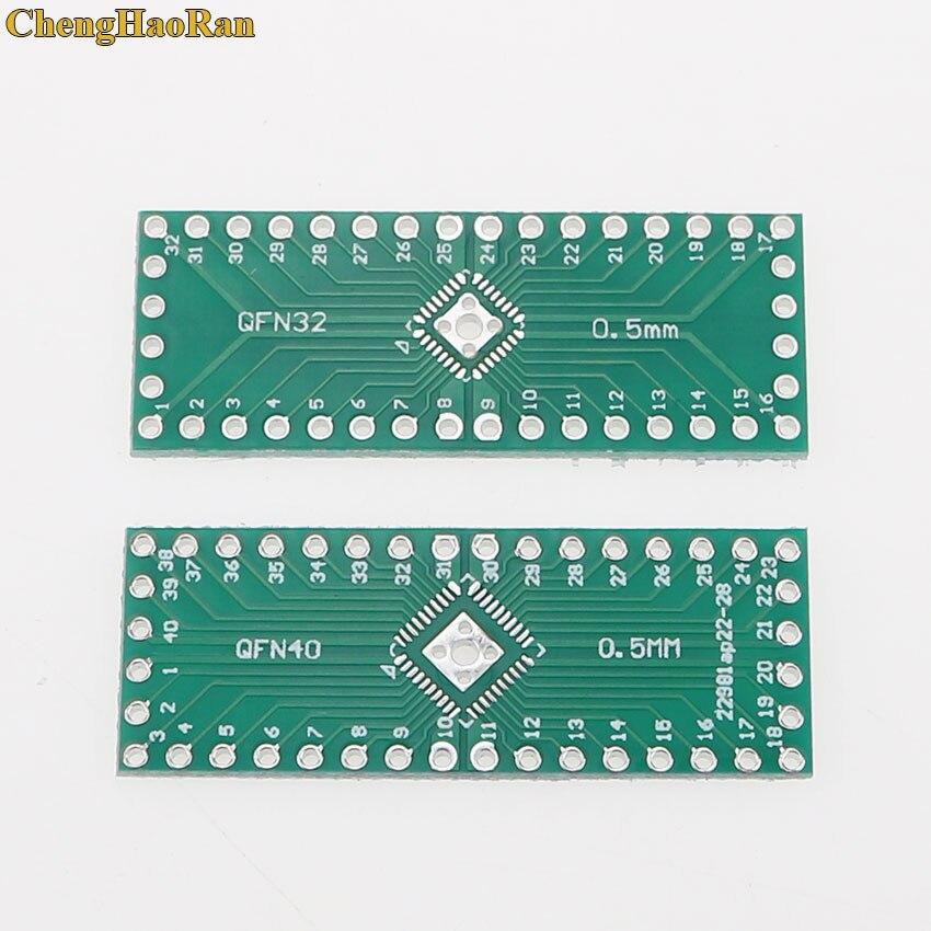 ChengHaoRan 5 PCS QFN32 QFN40 0.5MM adapter Socket Adapter plate PCB Pitch Universal Board