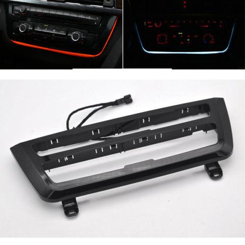 Led iluminado color Dual AC/radio Trim Retrofit para BMW LED F30 F3X 3 4 M3 M4 Auto