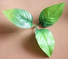 100 STKS Nep Groene Planten Gebladerte Kunstzijde Palmbladeren, Bloemist Levert, Leaf Garland, nylon kous bloem levert