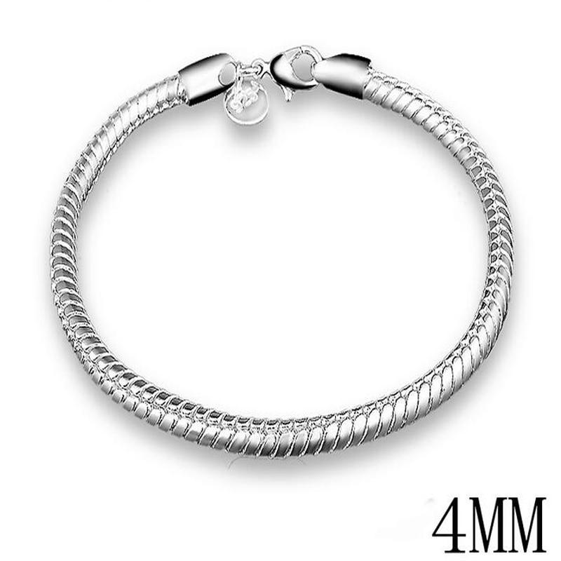 XIYANIKE New Arrival Big Brand 2017 Sterling Silver Hot Sale Snake Bones Bracelet For Women bracelets & bangles Pulseira VBS4020