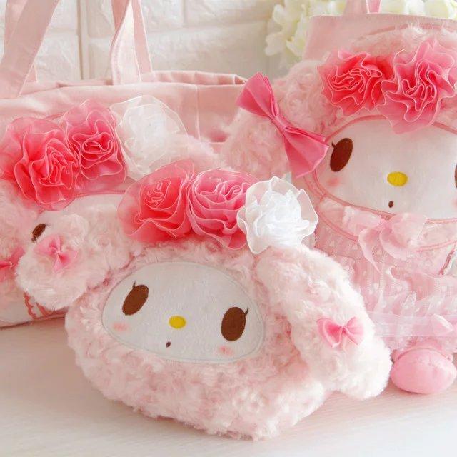 Candice guo! Супер Симпатичная плюшевая игрушка, милый розовый цветок, сумка для хранения с надписью «my melody», для девочек, креативный подарок на день рождения, Рождество, 1 шт.
