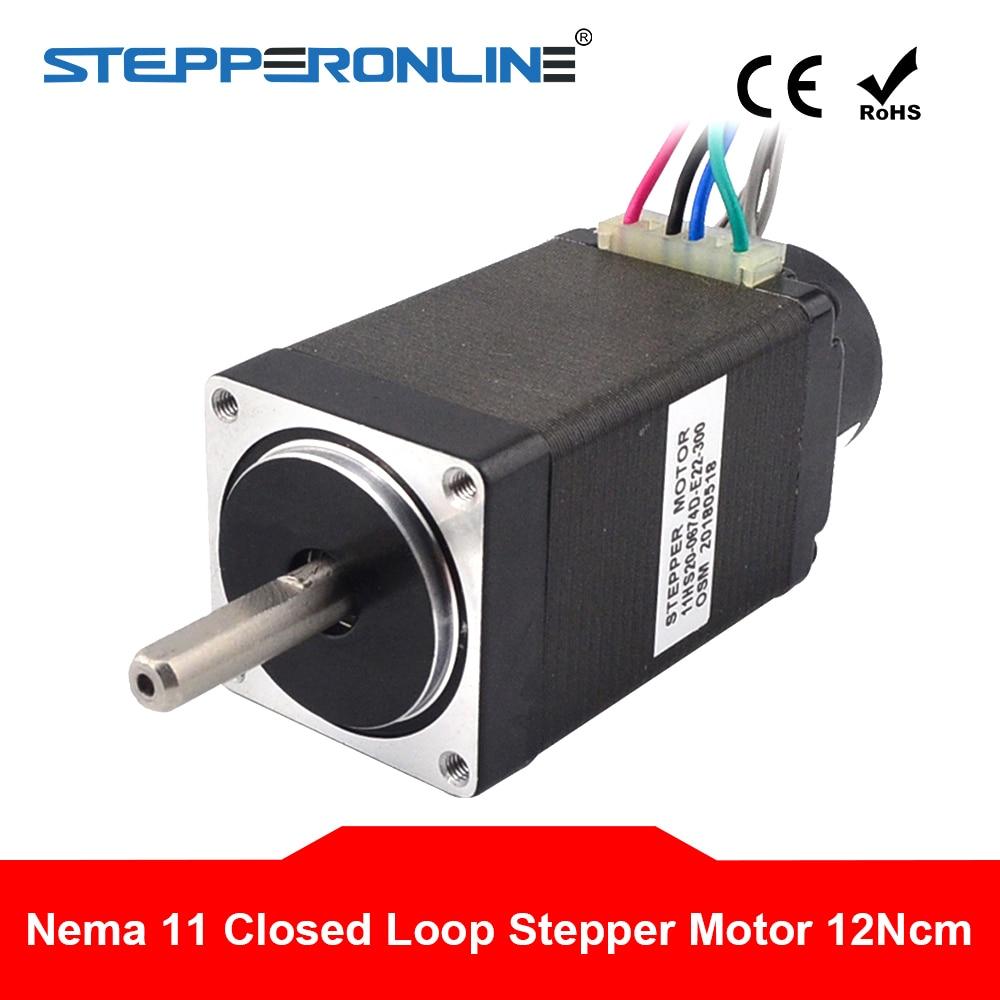 نيما 11 حلقة مغلقة السائر 12Ncm التشفير 300CPR 0.67A 2 مراحل الهجين Nema11 خطوة المحرك