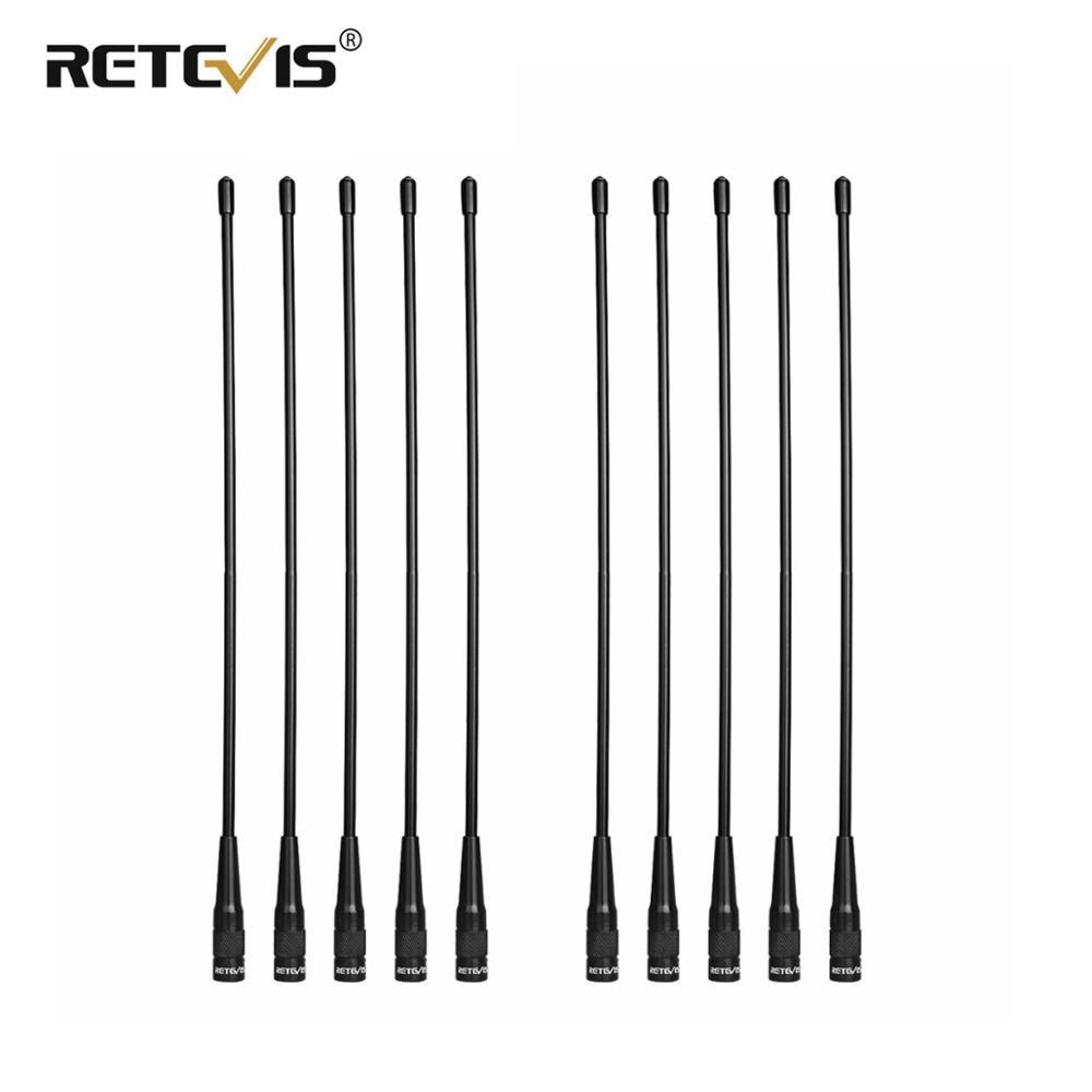 10 шт., оптовая продажа, антенна Retevis RHD-771 SMA-M VHF UHF Walkie Talkie антенна для Yaesu Retevis RT3S RT3 RT1RT81 для TYT MD-380