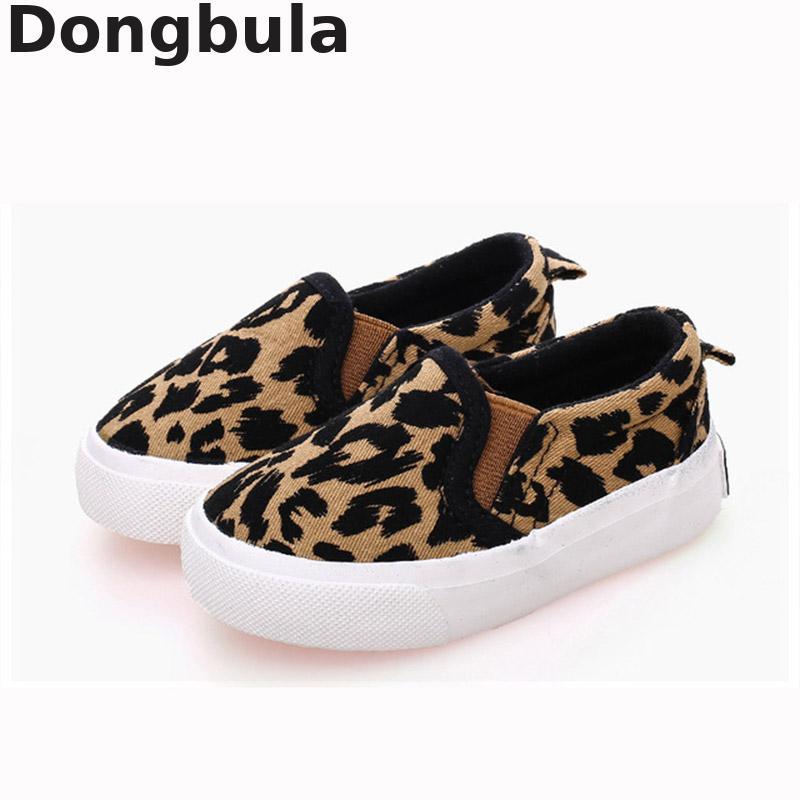 Neue Kinder Leinwand Schuhe Für Jungen Mädchen Mode Leopard Druck Komfortable Casual Schuhe Für Kinder Turnschuhe Student Flache Schuhe