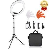 Кольцевая лампа Travor для фотографии, 18-дюймовая круглая лампа 55 Вт, 3200K, 5500K, 240 светодиодов, лампа светильник макияжа для камеры, фотостудии, те...