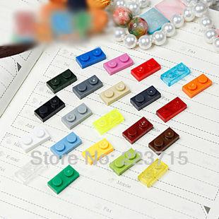 Free Shipping 3023  100pcs *Plate 1x2* DIY enlighten block bricks,Compatible With Lego Assembles Particles