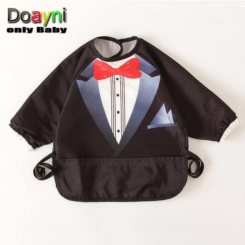 Doayni Baby Burp Cloths Gentleman Baby Rice Apron for Girls and Boys Infant Waterproof Feeding Saliva Lunch Burp Cloths