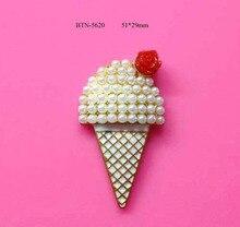 Livraison gratuite 10 pièces glaces crème glacée   Bouton de perle ()