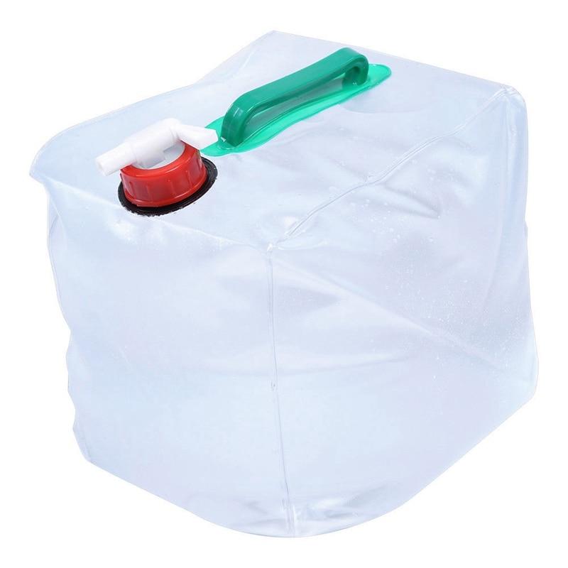 Portátil al aire libre 20L plegable bolsa de agua plegable de agua potable de calidad de transporte de contenedores de caliente-venta