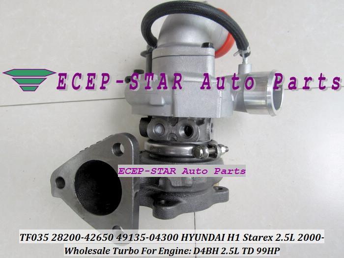 Envío Gratis TF035 28200-42650, 49135-04300, 49135, 04300, 49135-04302 Turbo turbocompresor para HYUNDAI H1 Starex 2000-D4BH 2.5L TD 99HP