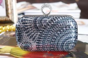 Designer Handbags High Quality Style of Retro Color with Sequin Wedding /special Occasion Evening Handbags/clutchs(more Color)