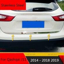 Autocollant de porte de queue arrière   Adapté pour Nissan Qashqai j11 2014-2018 2019, garniture de porte arrière en acier inoxydable, accessoires de style de voiture