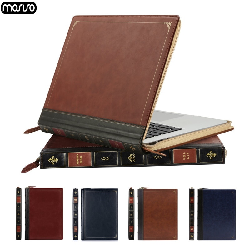 MOSISO PU Leather Laptop Sleeve for MacBook Air 13 Pro Retina 15 Case Cover new A1932 2018 Hot