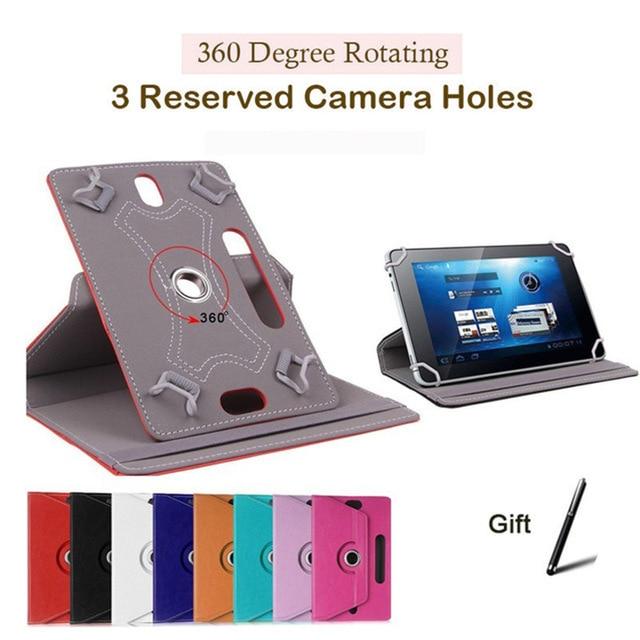 Para CUBE ALLDOCUBE M5 M5S Universal giratorio PU Funda de soporte de cuero para ONDA X20 4G Funda protectora 10 pulgadas Tablet Funda Capa
