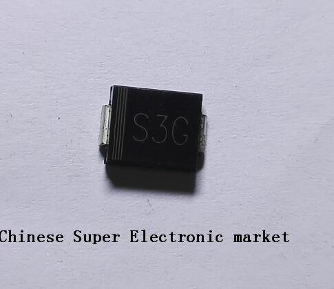 50 Uds S3G 1N5404 SMC DO-214AB CHIP SMD diodo rectificador de