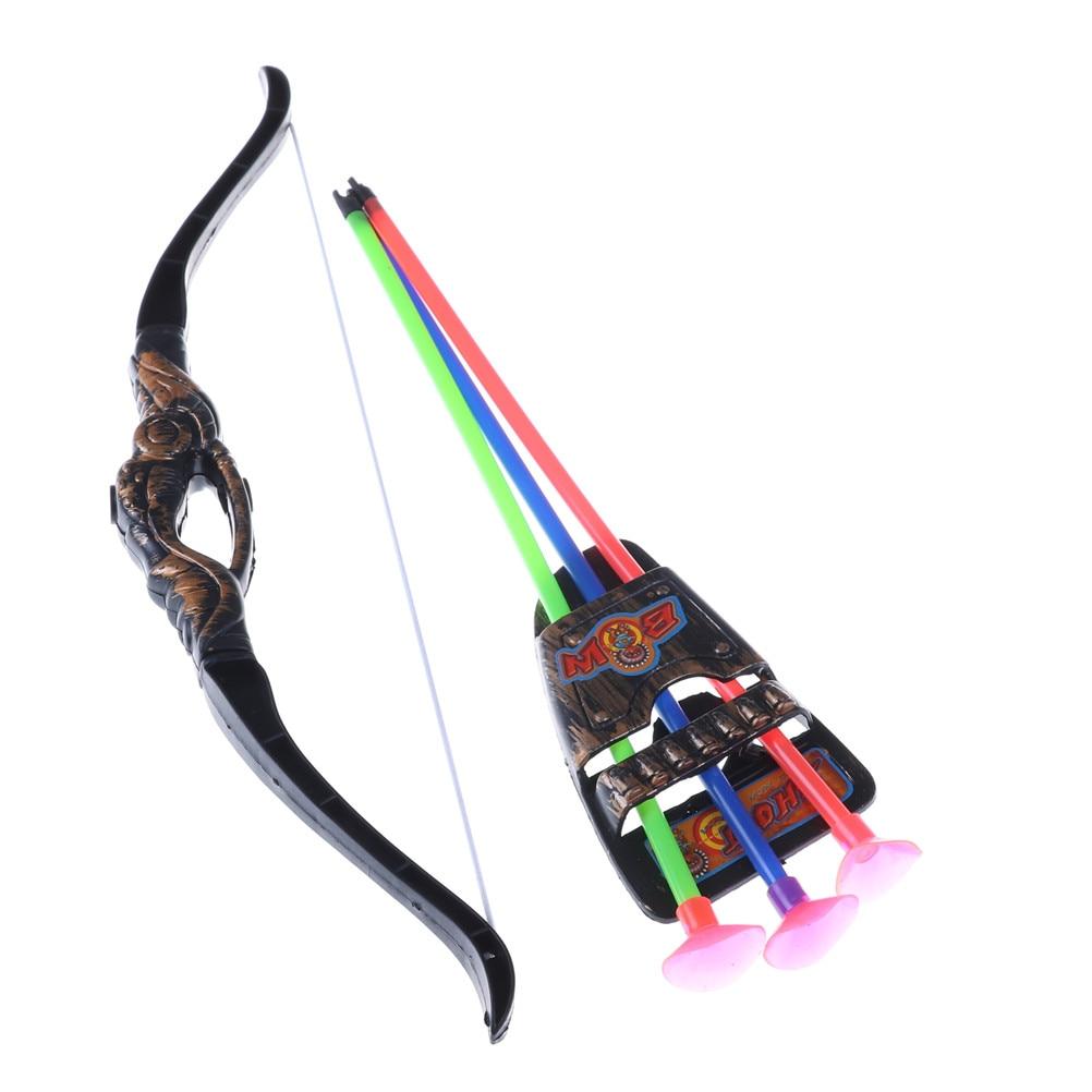35Cm divertidos juegos de jardín al aire libre de juguete con tiro con arco de plástico y flecha juguetes para niños con ventosa regalos de