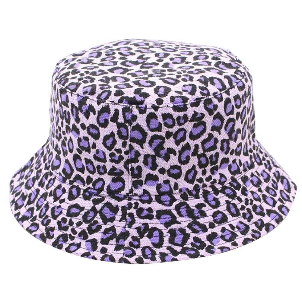 Складная Повседневная шляпа для мужчин и женщин, с леопардовым принтом, двусторонняя, летняя, цветная
