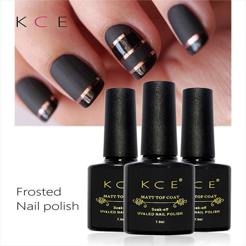 KCE-esmalte de Gel para uñas, acabado superior mate, 7,5 ml, Gel UV profesional mate, 7,5 ml