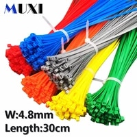 100pcsbag 5x300 5300 4 8mm width self locking green red blue yellow nylon wire cable zip ties cable ties