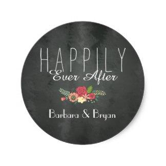 3.8 cm Quadro Happily Ever After Etiqueta Do Casamento