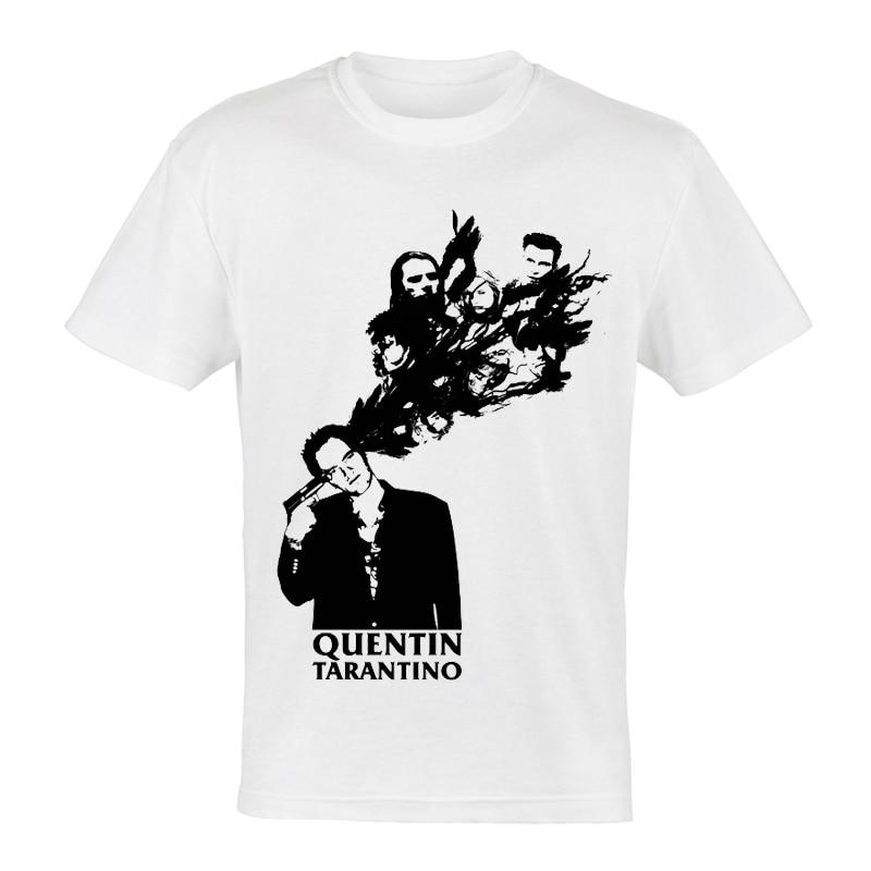 Camiseta Unisex de Quentin Tarantino, camiseta blanca de moda de dibujos animados cortos, camiseta Quentin Tarantino, camiseta para hombres, camiseta de Pulp Fiction