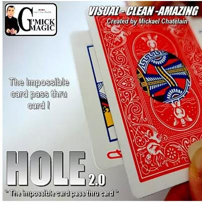 Agujero 2,0 por Mickael Chatelain (trucos) Tarjeta para trucos de magia agujero movimiento cerca de Magie comedia ilusiones mentalismo
