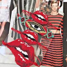 Go2boho Bracelet femmes MIYUKI turc mauvais oeil Bracelets morsure lèvres bijoux perles de verre à la main métier à tisser tissé mexique Pulseras 2020
