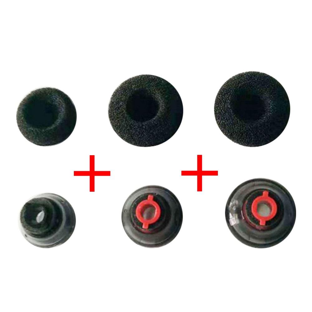 3 комплекта, прочные аксессуары, силиконовые чехлы, маленькие мягкие черные наконечники для наушников, колпачки для адаптера для Plantronics Voyager 5200, гарнитура