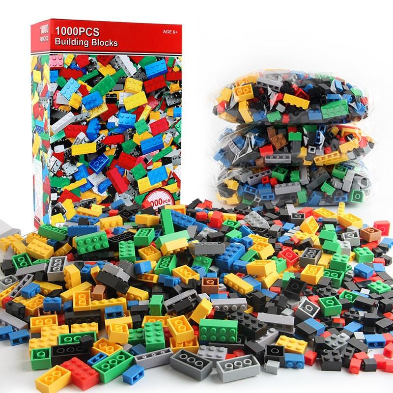 1000 Pieces DIY Building Blocks Bulk Sets City Creative Classic Creator Bricks Assembly Brinquedos Educational Toys for Children