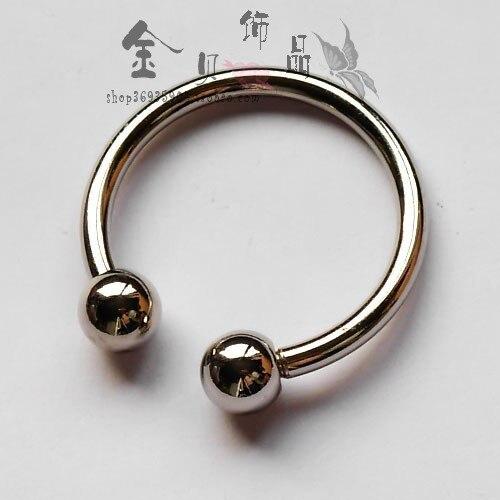 Highlight screw round toe horseshoe buckle personality car keychain key ring key chain