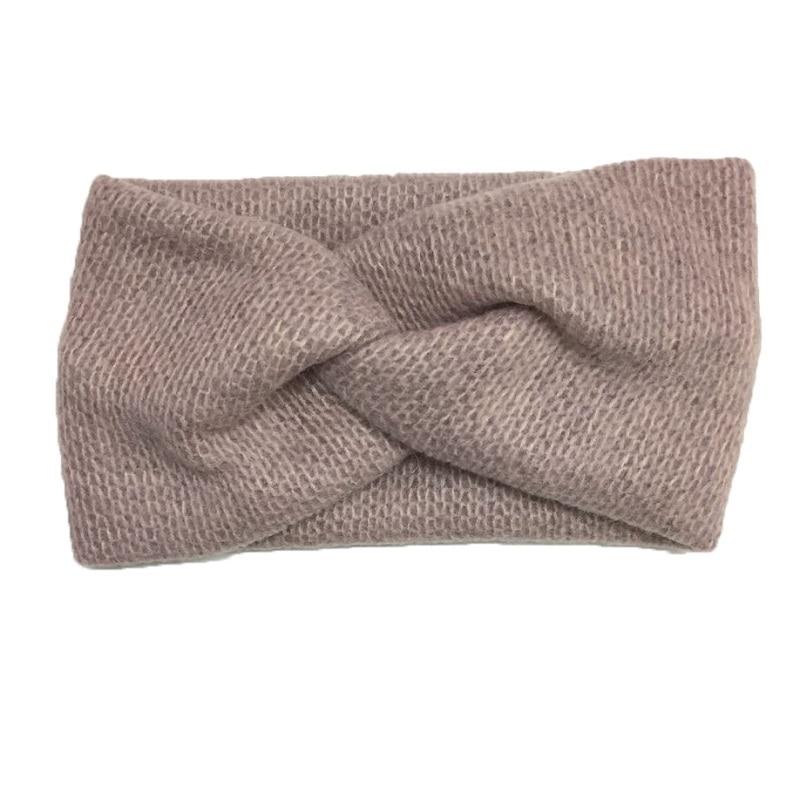 Recién llegado, diademas tejidas de lana suave cruzada para mujeres a la moda, bonitas y cálidas diademas para niñas, accesorios para el cabello vintage de Corea para mujeres