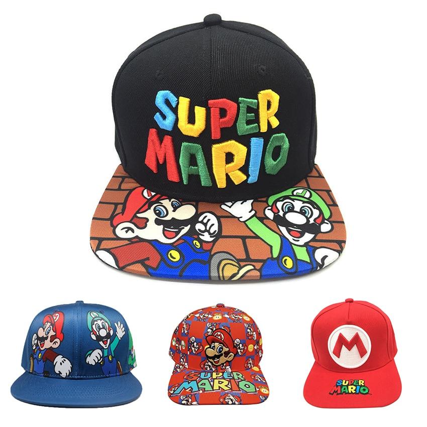 Odyssey do jogo Super Mario Cosplay Hat Super Mario Bros Adulto Baseball Trucker hat Luigi Bros Cosplay Boné Bordado